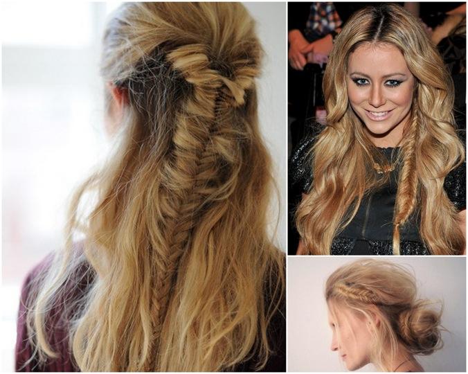 Unique Hair Styles: Unique Fishtail Braids For Boho Brides : Woman Fashion
