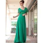 Vilma in Vintage Green Lace Evening Dress , 7 Green Vintage Prom Dress Designs In Fashion Category