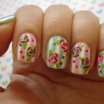 Vintage Flower Nail Design , 8 Vintage Style Nail Designs In Nail Category