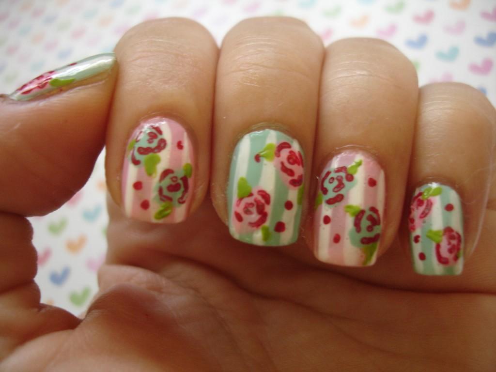 Vintage Flower Nail Design 8 Vintage Style Nail Designs Woman