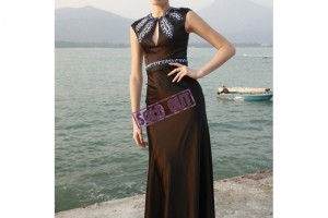 Fashion , 8 Vintage Long Gowns : Vintage Inspired Long Slim Formal Beaded Evening Gown