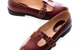 Shoes , 6 Vintage Style Dress Shoes : Vintage Nautical Style Flat Mary Jane