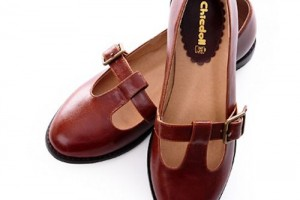 Shoes , 8 Vintage Style Dress Shoes : Vintage Nautical Style Flat Mary Jane Dress Shoes