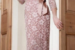 Fashion , 8 Vintage Long Gowns : Vintage Rose Lace Maternity Dress Long