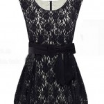 Vintage Style Bud Hem Lace Dress with Bow Tie Waist , 7 Vintage Style Dress In Fashion Category