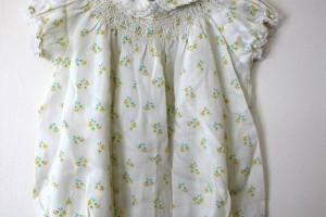 Fashion , 8 Vintage Style Dresses For Kids : Vintage Sweet Tulip floral Ivory dress