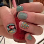 Vintage bird nail design , 8 Vintage Style Nail Designs In Nail Category