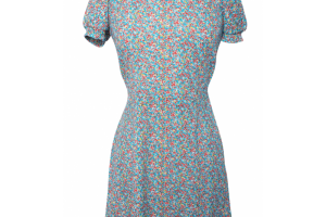 Fashion , 7 Vintage Style Dress : Vintage style dress with floral print