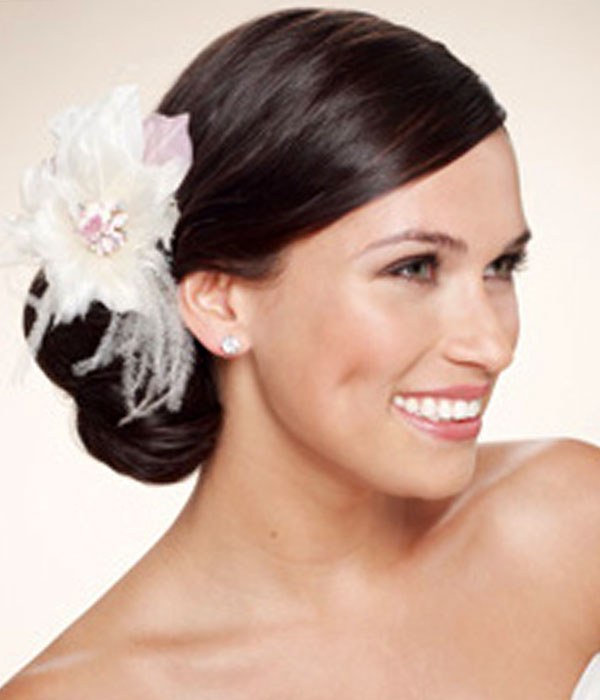 Wedding Side Bun Updos Hairstyles With Hair Accessories Updos For
