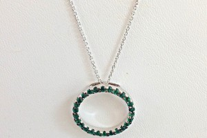 Jewelry , 11 White Gold Necklaces Women : White Gold Emerald Necklace