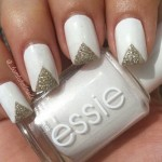 White nail polish gold  , 6 Gold Nail Polish Ideas In Nail Category