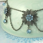 Blue Crystal Necklace FREE SHIPPING Etsy by ...   Jewelry , 6 Crystal Necklace Etsy In Jewelry Category