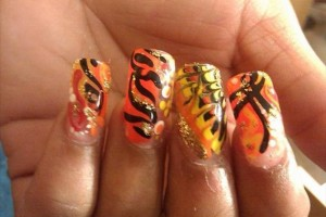 629x500px 5 Airbrush Nail Designs Picture in Nail