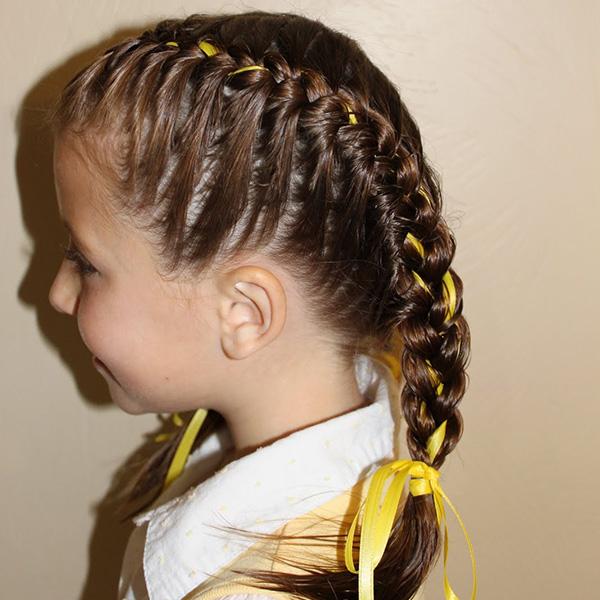 Stupendous Top 8 Summer Hairstyles For Girl Kids Mommyswallmommyswall Short Hairstyles Gunalazisus