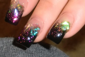 Nail , 7 Artificial Nail Designs :  artificial glitter nail designs
