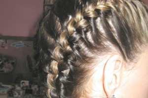 Hair Style , 7 Fishtail French Braid : French braid with fishtail finish. | Hair
