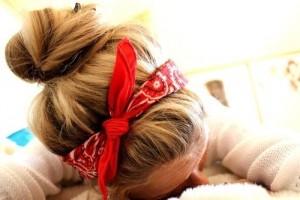 Hair Style , 6 Bandana Hairstyles : bandana and bun