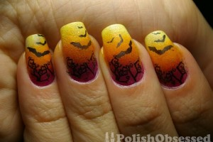Nail , 8 Batty Nail Art Designs : batty nail art