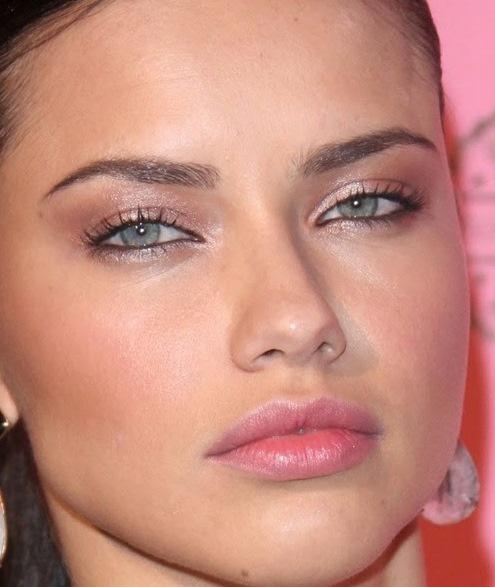 Make Up , 7 Adriana Lima Eye Makeup : Adriana Lima Shimmery Rosy Bronze Eyes Black Liner, Pink ... | Makeup