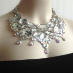 bib necklace crystal , 7 Crystal Bib Necklace Etsy In Jewelry Category