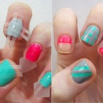12 Amazing DIY Nail Art Designs Using Scotch Tape [BuzzFeed Shift] , 6 Scotch Tape Nail Designs In Nail Category