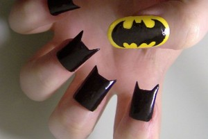 Nail , 8 Batty Nail Art Designs : black batty nail polish
