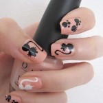 black cat and white cat nail art , 7 Black Kitty Nail Art In Nail Category