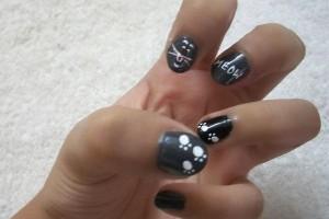 Nail , 7 Black Kitty Nail Art : black cat nail