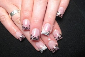Nail , 10 Lace Nail Art Design : black lace nail art design