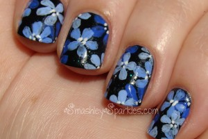 Nail , 6 Blue Prom Nail Designs : blue+flower+nail+art+cult+nails+living+water-002.JPG