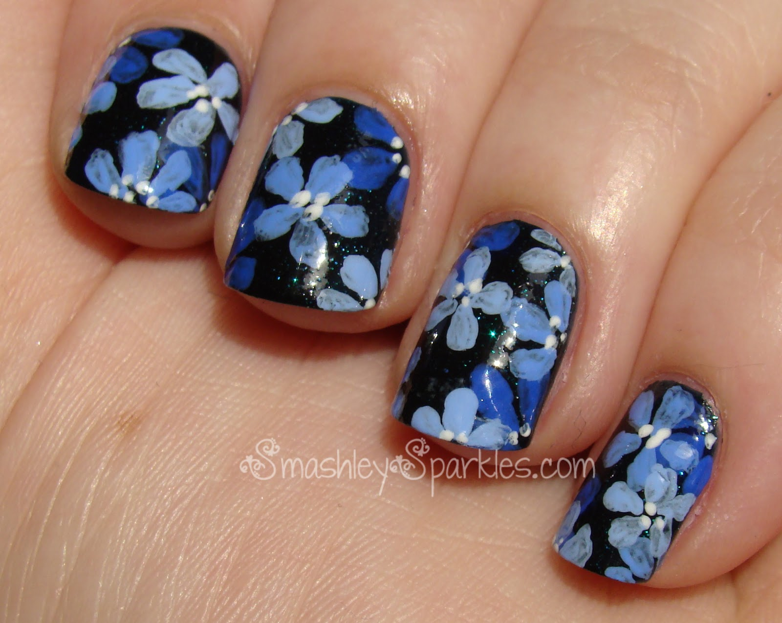 Blue+flower+nail+art+cult+nails+living+water 002.JPG : 6 Blue Prom ...