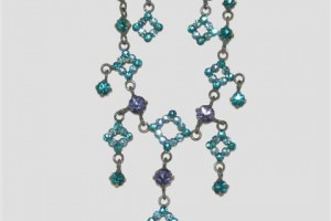 480x480px 6 Blue Crystal Necklace And Earring Set Picture in Jewelry