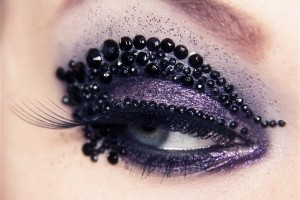 Make Up , 7 Rhinestone Eye Makeup : bobby pins rhinestone eye makeup