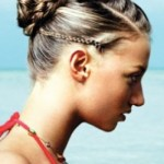 braided hairstyle with small bun , 6 Small Braided Hairstyles In Hair Style Category