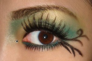 460x357px 7 Rhinestone Eye Makeup Picture in Make Up