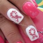 Breast cancer awareness, nail art, nail design | Breast Cancer Awaren ... , 6  Breast Cancer Nail Designs In Nail Category