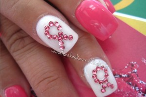 736x552px 6  Breast Cancer Nail Designs Picture in Nail
