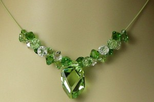 Jewelry , 6 Crystal Necklace Etsy : EMERALD KISS Crystal Necklace. $48.00, via Etsy. | Craft: beads