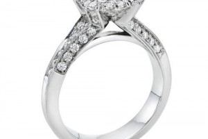 Wedding , Women Wedding Ring Idea For Married : Gold Rings for Women, Round Cut, Solitaire Diamond Ring in 14K white ...