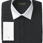 ... Dress Shirt, Black White Stripe White Collar French Cuff Long Sleeve , 6 Boys Long Sleeve Black Dress Shirt In Fashion Category
