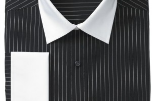 Fashion , 6 Boys Long Sleeve Black Dress Shirt : ... Dress Shirt, Black White Stripe White Collar French Cuff Long Sleeve
