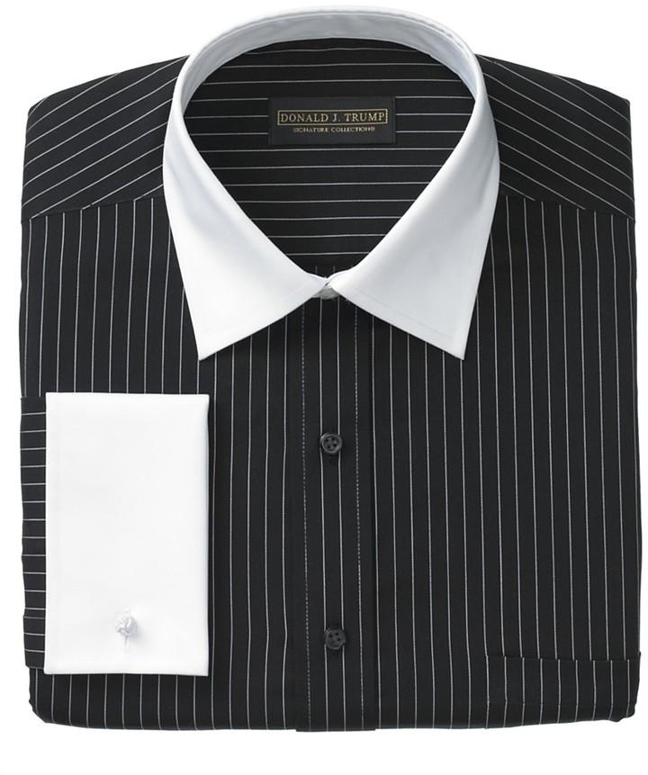 White Striped Shirt Mens Designer