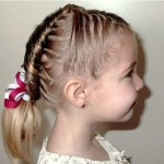 Children Hairstyle Updo With Braids , 6 Updos For Little Girls With Long Hair In Hair Style Category