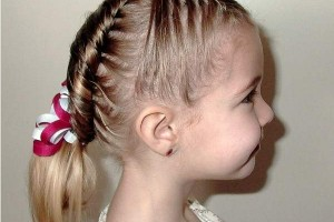 Hair Style , 6 Updos For Little Girls With Long Hair : children hairstyle updo with braids
