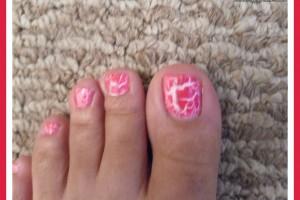 Nail , 6 Crackle Toe Nail Designs : nail designs using crackle