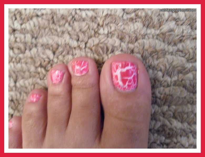 Nail , 6 Crackle Toe Nail Designs : Nail Designs Using Crackle