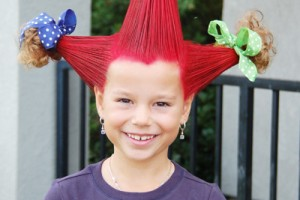 Hair Style , 7 Crazy Hair Day Styles For School : crazy hair for girl