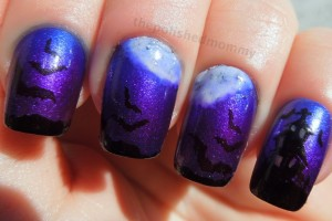 Nail , 8 Batty Nail Art Designs : creative batty nail art