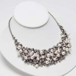 Home › TYPE › NECKLACES › Crystal & Pearl Bib Necklace , 6 Pearl And Crystal Necklace In Jewelry Category