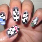 Cute Grey Panda Nails Art Designs , 5 Panda Nail Art Designs In Nail Category